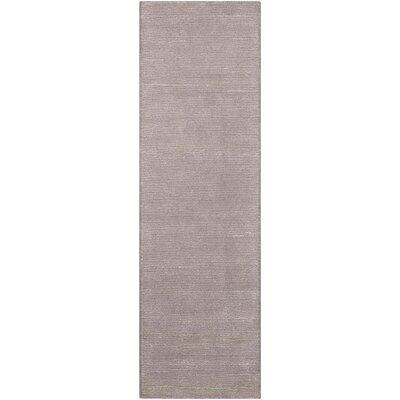 Calvin Klein Ravine Furrow Handmade Fog Area Rug Rug Size: Runner 23 x 76
