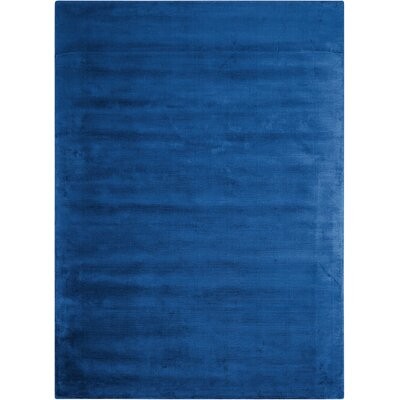 Lunar Luminescent Rib Klein Handmade Blue Area Rug Rug Size: Rectangle 36 x 56