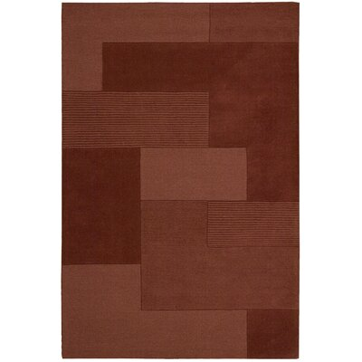 Bowery Hand-Tufted Grid Paprika Area Rug Rug Size: Rectangle 26 x 4