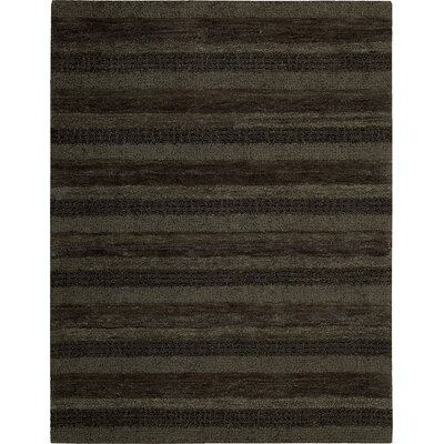 Sequoia Hand-Woven Gray Area Rug Rug Size: Rectangle 53 x 75