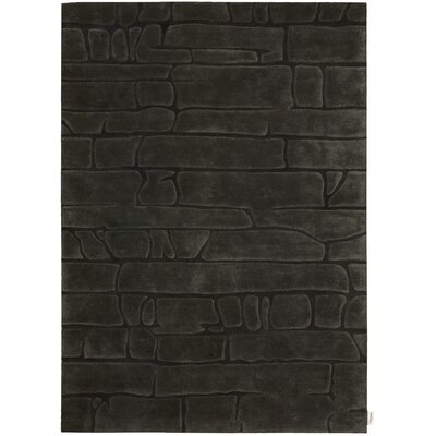 Canyon Hand-Woven Brown Area Rug Rug Size: 53 x 75