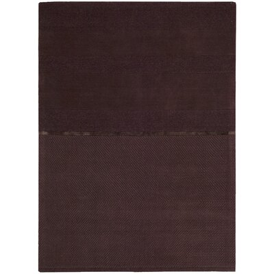 Vale Hand-Woven Portland Burgundy Area Rug Rug Size: Rectangle 79 x 1010