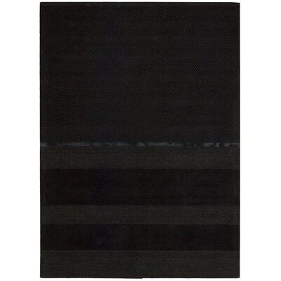 Vale Hand-Woven Portland Onyx Area Rug Rug Size: Rectangle 53 x 75