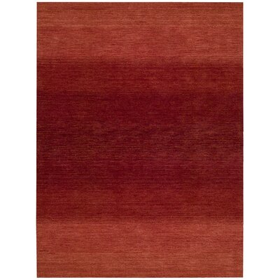 Linear Glow Hand-Woven Watercolor Sumac Area Rug Rug Size: 53 x 75