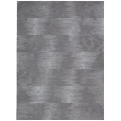 Reflective Hand-Woven Gray Area Rug Rug Size: Rectangle 36 x 56