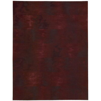 Reflective Hand-Woven Brushstroke Garnet Area Rug Rug Size: Rectangle 56 x 75