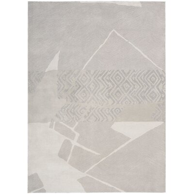 Reflective Hand Woven Wool Kyoto Pearl Area Rug Rug Size: Rectangle 56 x 75