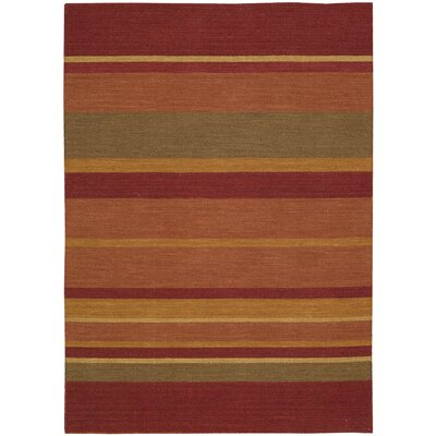 Plateau Sumac Bands Madder Area Rug Rug Size: Runner 23 x 8