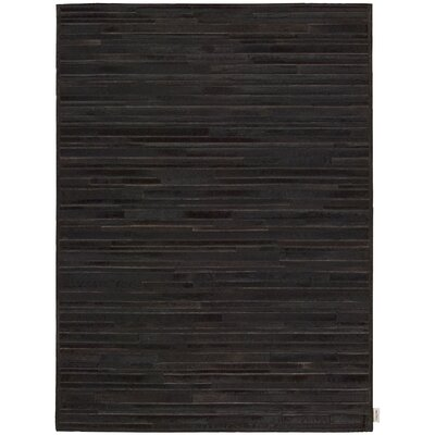 Prairie Hand-Woven Stallion Black Area Rug Rug Size: Rectangle 56 x 75