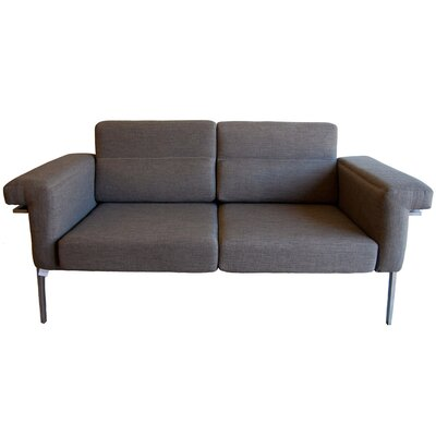 Eden Loveseat with Cushions Color: Brown / Black, Fabric: Sunproof