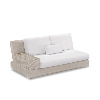 Sumba Loveseat Sectional Piece with Cushions Fabric: Sumbrella Vellum