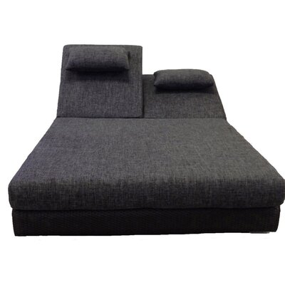 Sumba Double Sun Lounge with Cushions Fabric: Sunproof Black