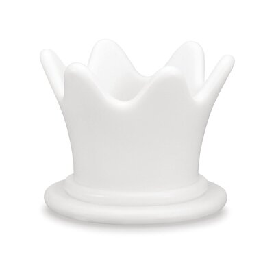 100 Essentials Simple Queen Crown Statue Color: White