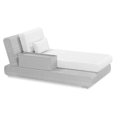 Sumba Lounge Bed Sectional Piece with Cushions Fabric: Sunproof Taupe