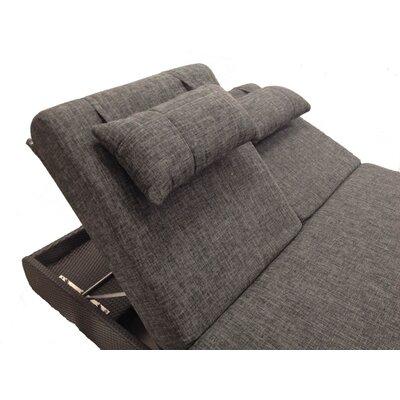 Sumba Double Sun Lounge with Cushions Fabric: Sunproof Bay Brown