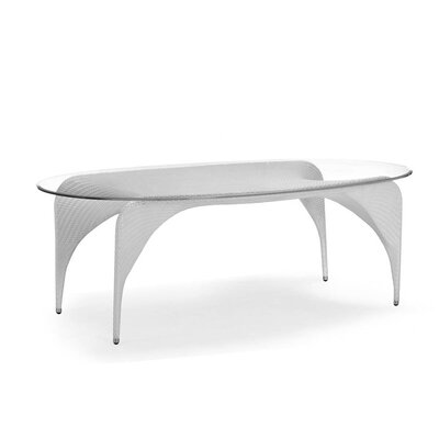 Rivage Oval Dining Table Base Finish: White