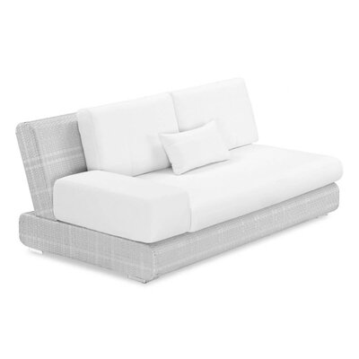 Sumba Loveseat with Cushions Fabric: Sunproof White Smoke