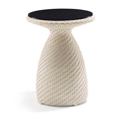 Circle High Side Table Finish: Java Antique