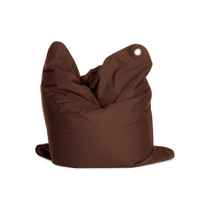 The Bull Medium Bean Bag Chair Upholstery: Dark Brown