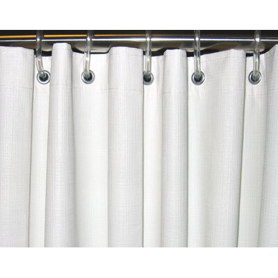 Vinyl Textured Shower Curtain Size: 48 x 74
