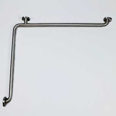 L-Shaped Grab Bar Finish: Polished Stained Steel