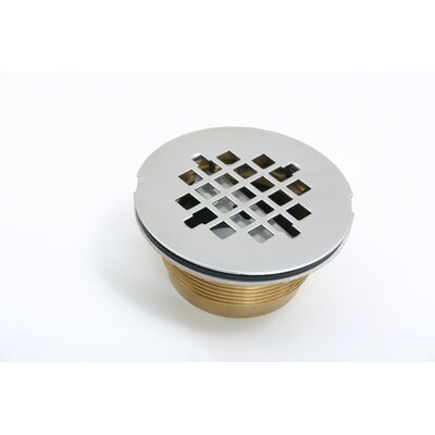 No-Caulk 4.25 Grid Shower Drain