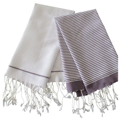Lurex Fouta Hand Towel Color: Violine / White