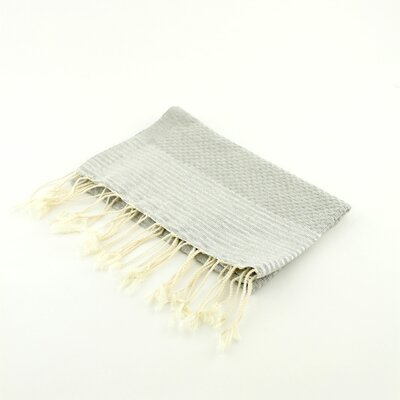 Fouta Honeycomb Stripe Hand Towel Color: Gray/Silver
