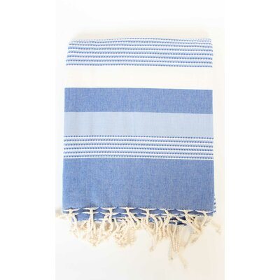 Fouta Ibiza Bath Sheet Color: Blue