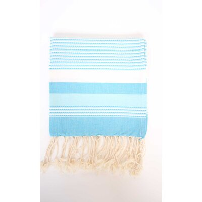 Fouta Ibiza Bath Sheet Color: Turquoise