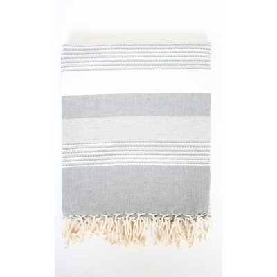 Fouta Ibiza Bath Sheet Color: Gray