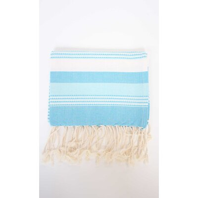 Sanders Hand Towel (Set of 2) Color: Turquoise