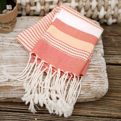 Sanders Hand Towel (Set of 2) Color: Orange