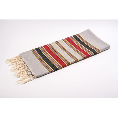 Fouta Traditional Stripes Bath Towel Color: Grey