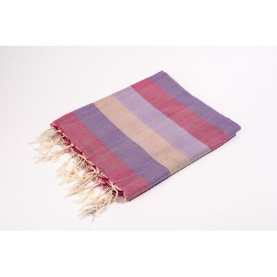 Fouta Light Weight Bath Towel Color: Fushia