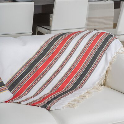 Fouta Traditional Stripes Bath Towel Color: White