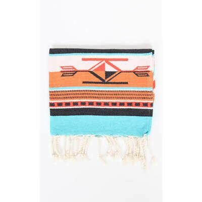 Boho Guest Hand Towel (Set of 2) Color: Orange/Turquoise