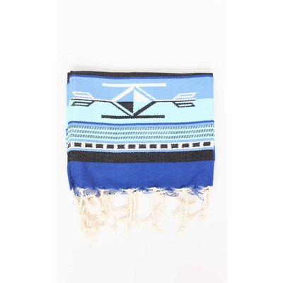 Boho Guest Hand Towel (Set of 2) Color: Blue/Azur