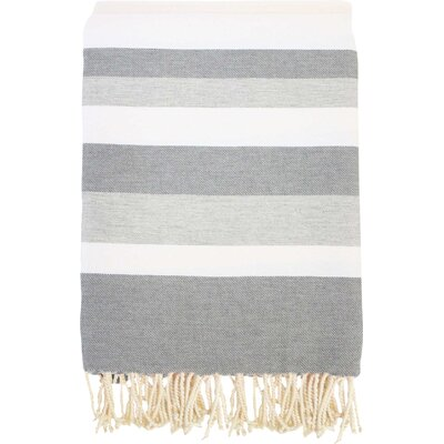 Fouta Ibiza Bath Sheet Color: White / Gray