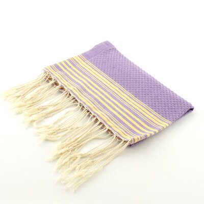 Guest Towel Positive Negative Hand Towel (Set of 2) Color: Lilac/Yellow