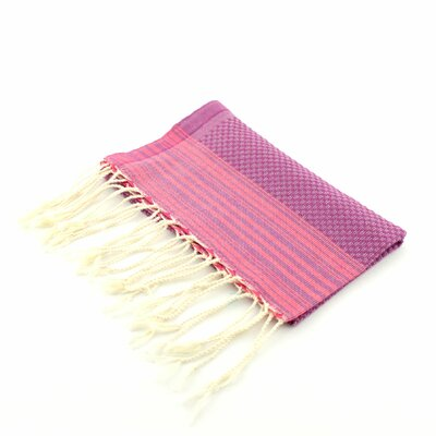 Guest Towel Positive Negative Hand Towel (Set of 2) Color: Orchid/Fushia