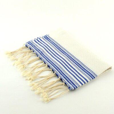 Guest Towel Positive Negative Hand Towel (Set of 2) Color: White/Blue Jeans