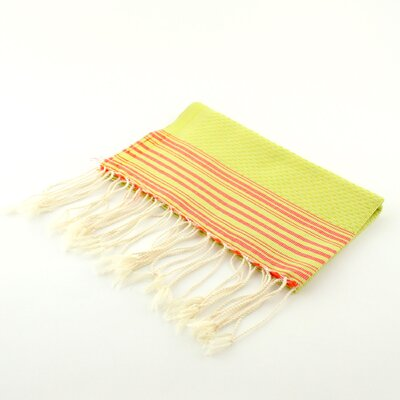 Guest Towel Positive Negative Hand Towel (Set of 2) Color: Chartreuse/Tangerine