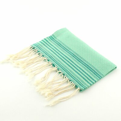 Guest Towel Positive Negative Hand Towel (Set of 2) Color: Light Green/Emerald Green
