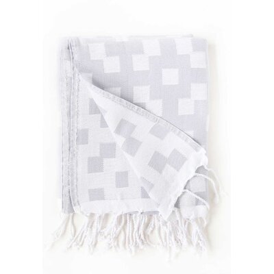 Hampton Fouta Bicolor Bath Sheet Color: Gray/White