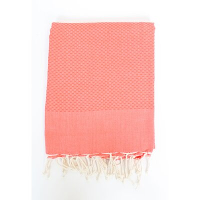 Sumner Solid Honeycomb Bath Towel Color: Tangerine