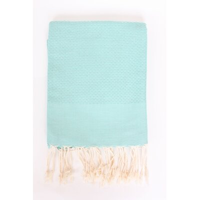 Veedersburg Solid Honeycomb Bath Towel Color: Aqua
