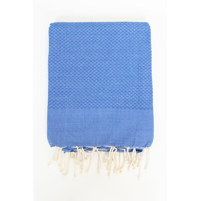 Veedersburg Solid Honeycomb Bath Towel Color: Blue Jeans