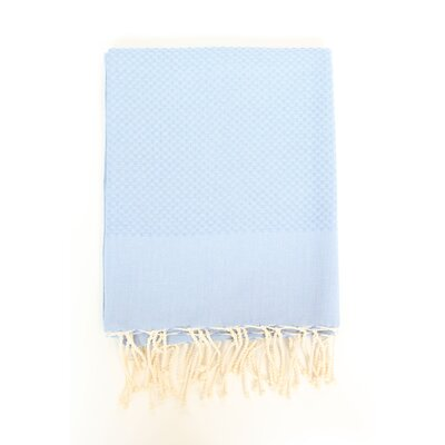 Sumner Solid Honeycomb Bath Towel Color: Serenity Blue