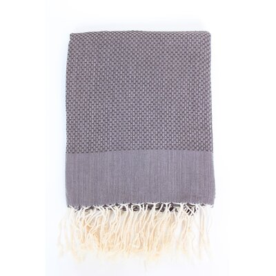 Sumner Solid Honeycomb Bath Towel Color: Dark Gray